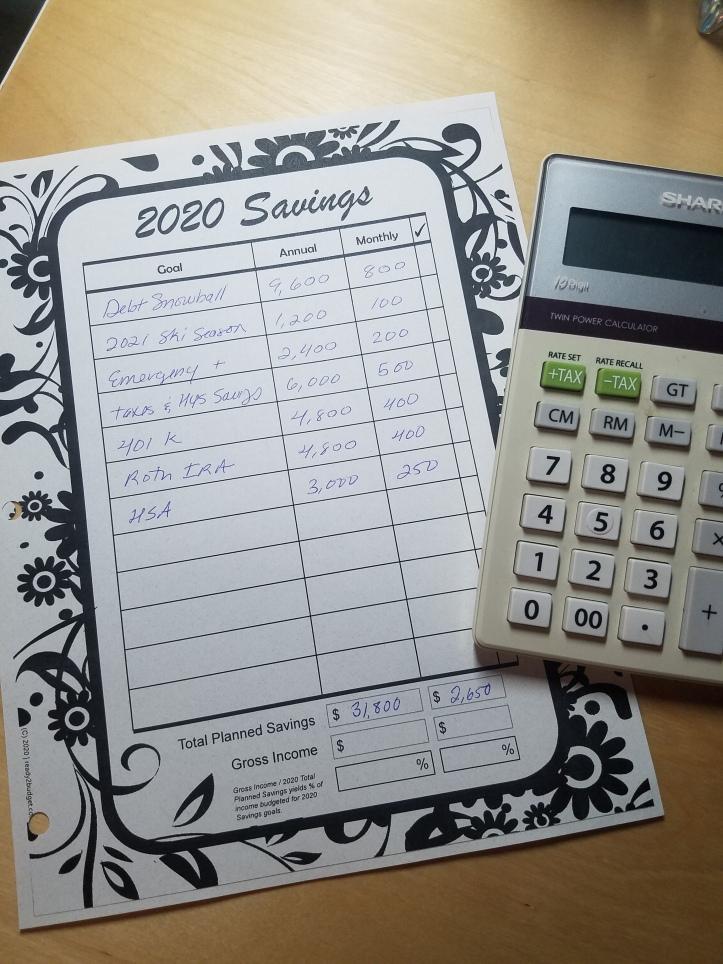 Savings Tracker Real Numbers